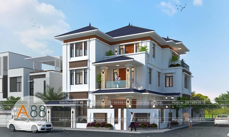 Mẫu thiết kế biệt thự mái thái tại Việt Trì