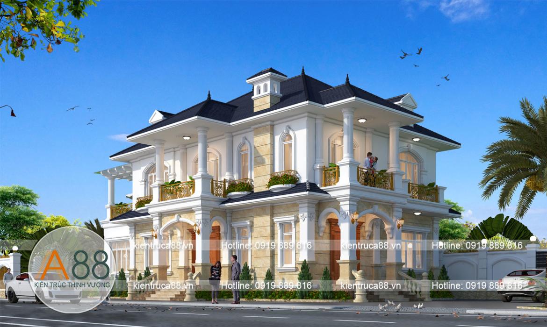 Thiết kế biệt thự 2 tầng 450m2