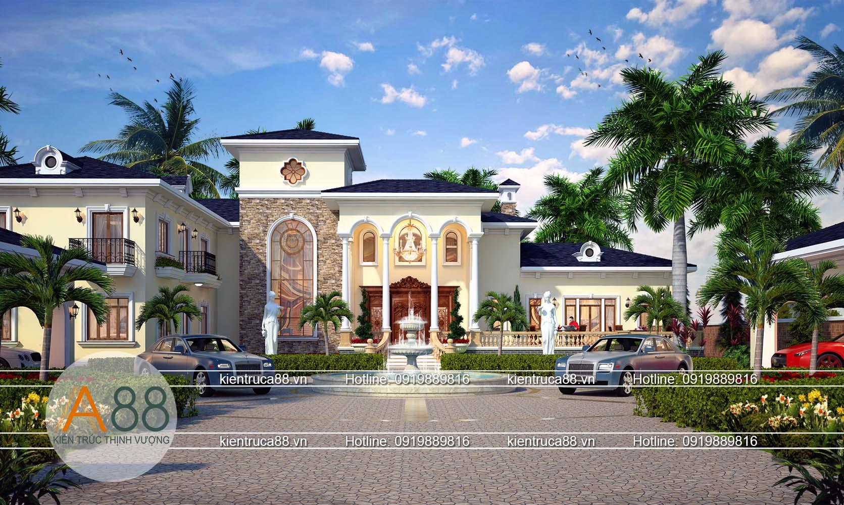 Mẫu thiết kế biệt thự nghỉ dưỡng tại Nghê An