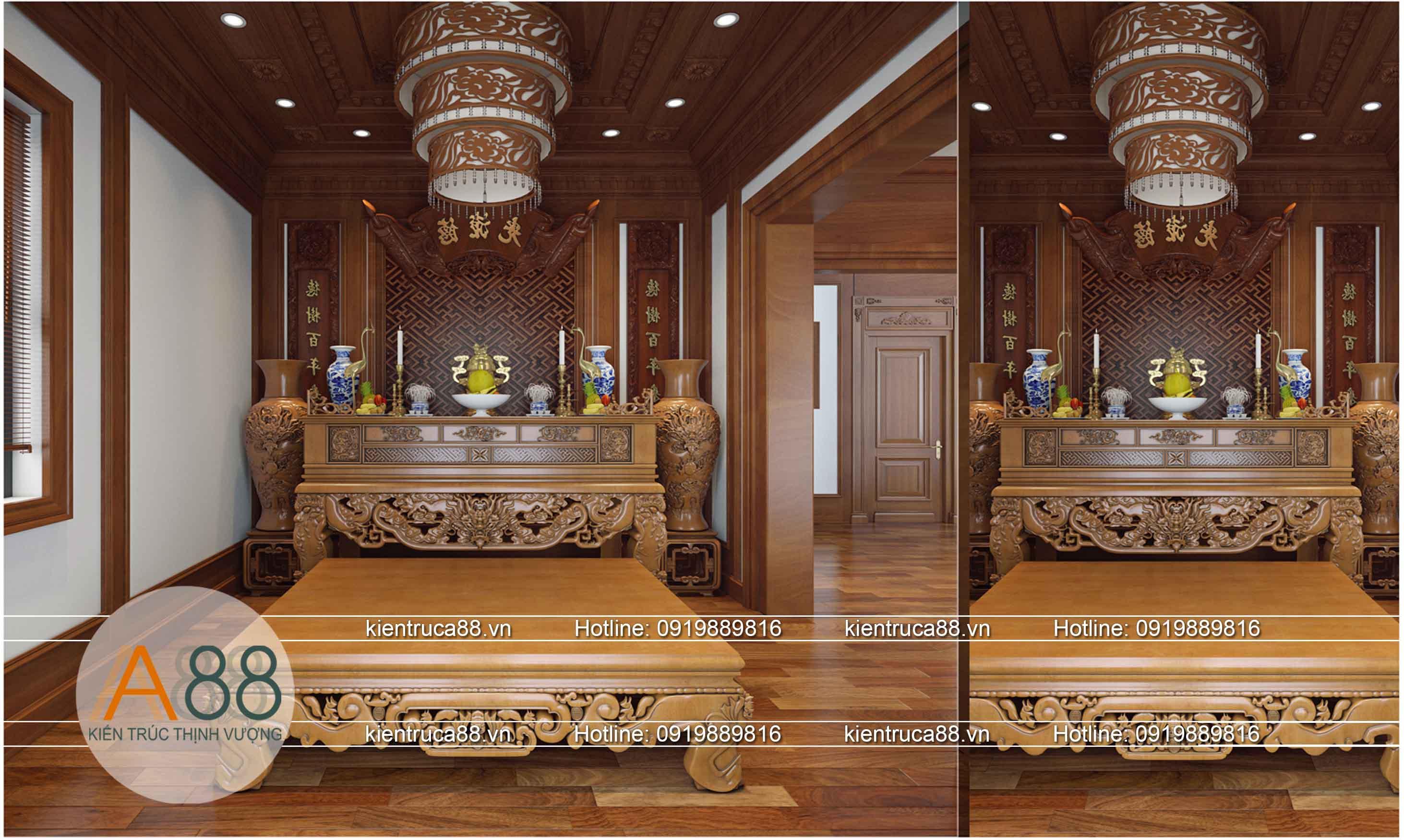 Thiết kế phòng thờ theo phong cách tân cổ điển