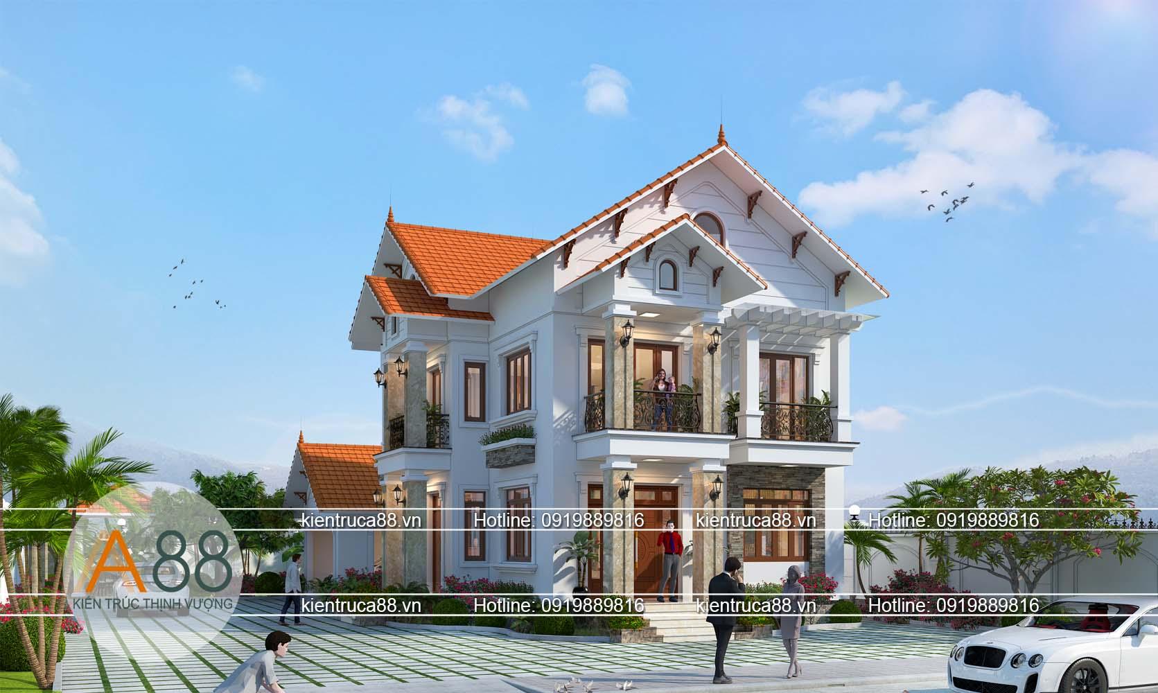Mẫu thiết kế biệt thự hiện đại tại Bắc Giang