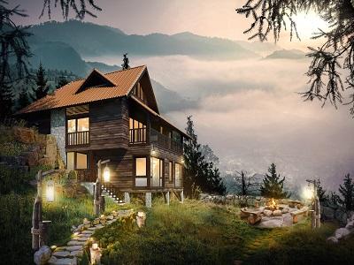 mẫu thiết kế biệt thự nghỉ dưỡng trên núi