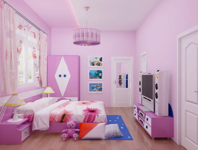 thiết kế nội thất phòng ngủ hiện đại cho bé gái