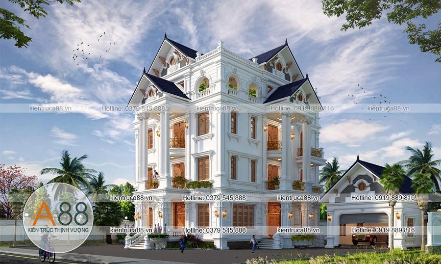 Mẫu biệt thự kiến trúc Pháp tại Hà Nam - KT1297