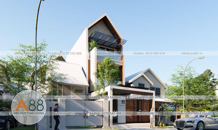 Mẫu thiết kế biệt thự phong cách hiện đại tại Hà Nội 150m2