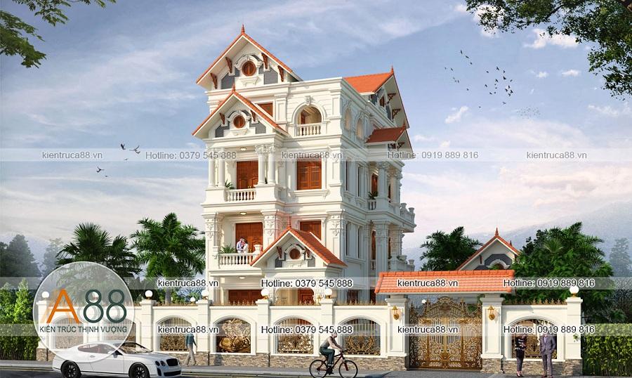 Mẫu thiết kế biệt thự kiến trúc Pháp tại Ninh Bình