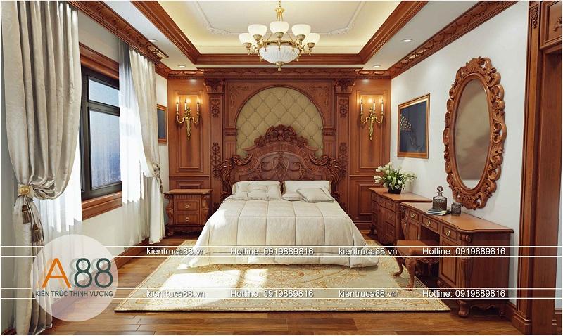 Thiết kế nội thất phòng ngủ biệt thự Splendora