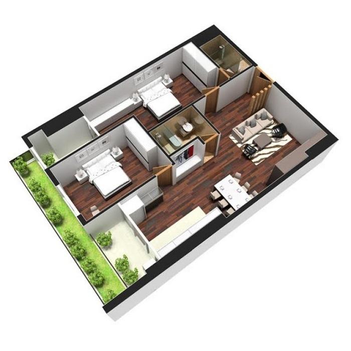 Top 8 thiết kế nội thất căn hộ chung cư 90m2 đẹp nhất