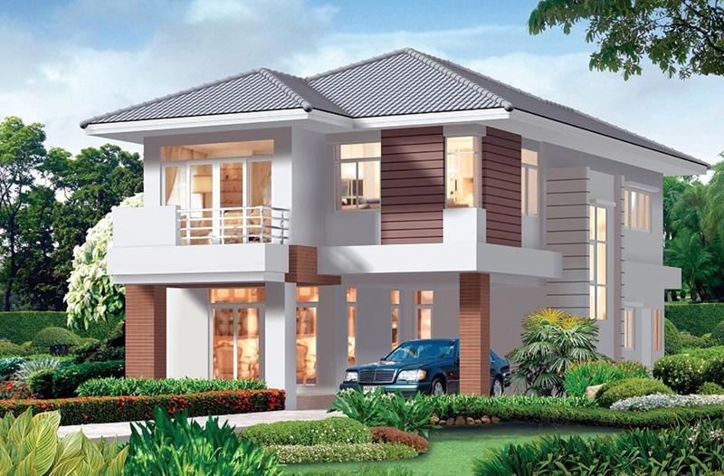 Mẫu thiết kế biệt thự nhà vườn 2 tầng đẹp