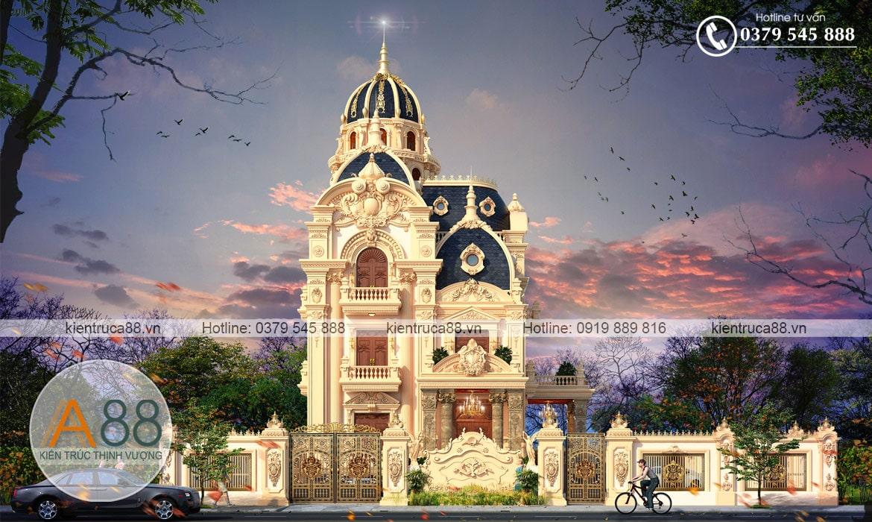 Mẫu thiết kế lâu đài dinh thự, biệt thự kiểu Pháp