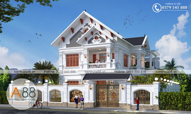 thiết kế biệt thự tân cổ điển tại Thanh Hóa