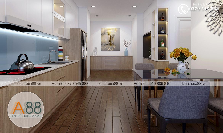 nội thất khu vực bếp chung cư