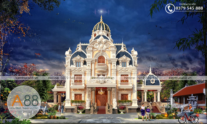 Thiết kế biệt thự kiến trúc Pháp