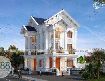 Góc nhìn khác của mẫu thiết kế biệt thự đẹpđầy sang trọng và hoành tráng