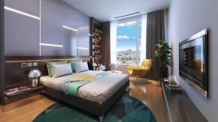 phòng ngủ trong thiết kế nội thất chung cư 70m2