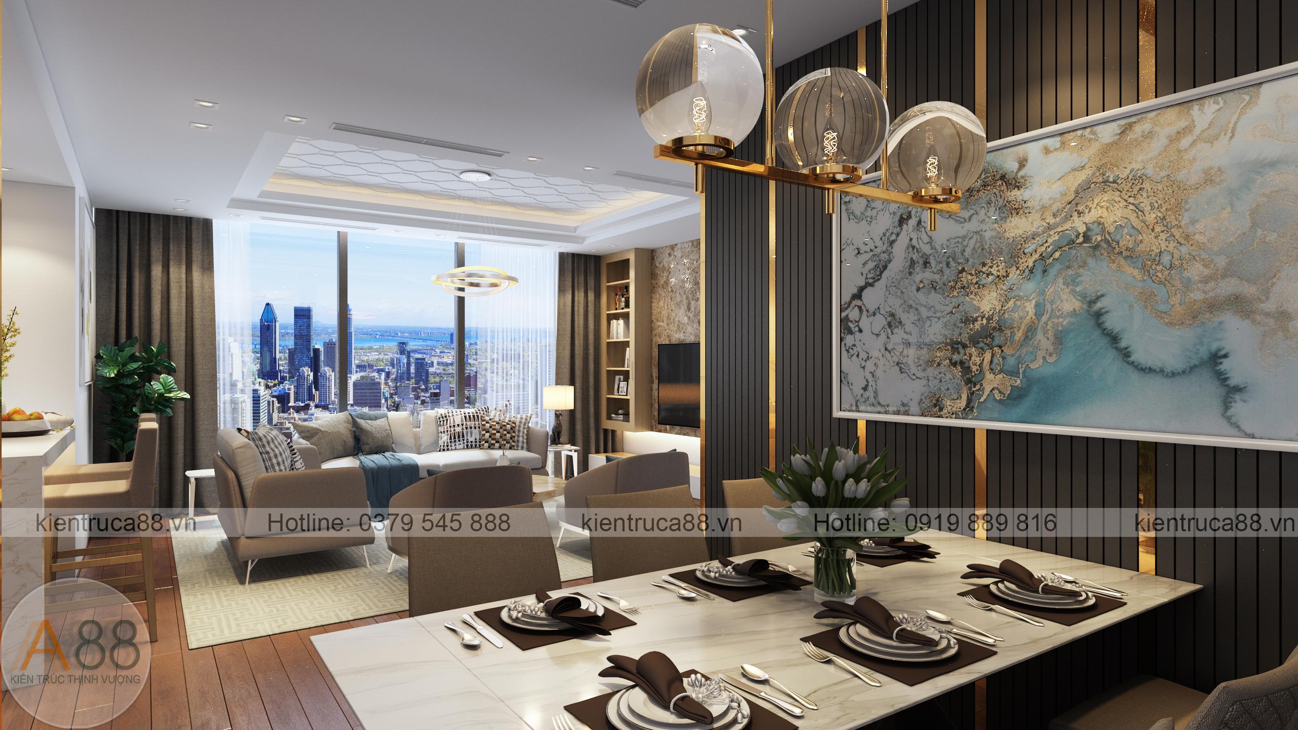 mẫu thiết kế nội thất chung cư sunshine city