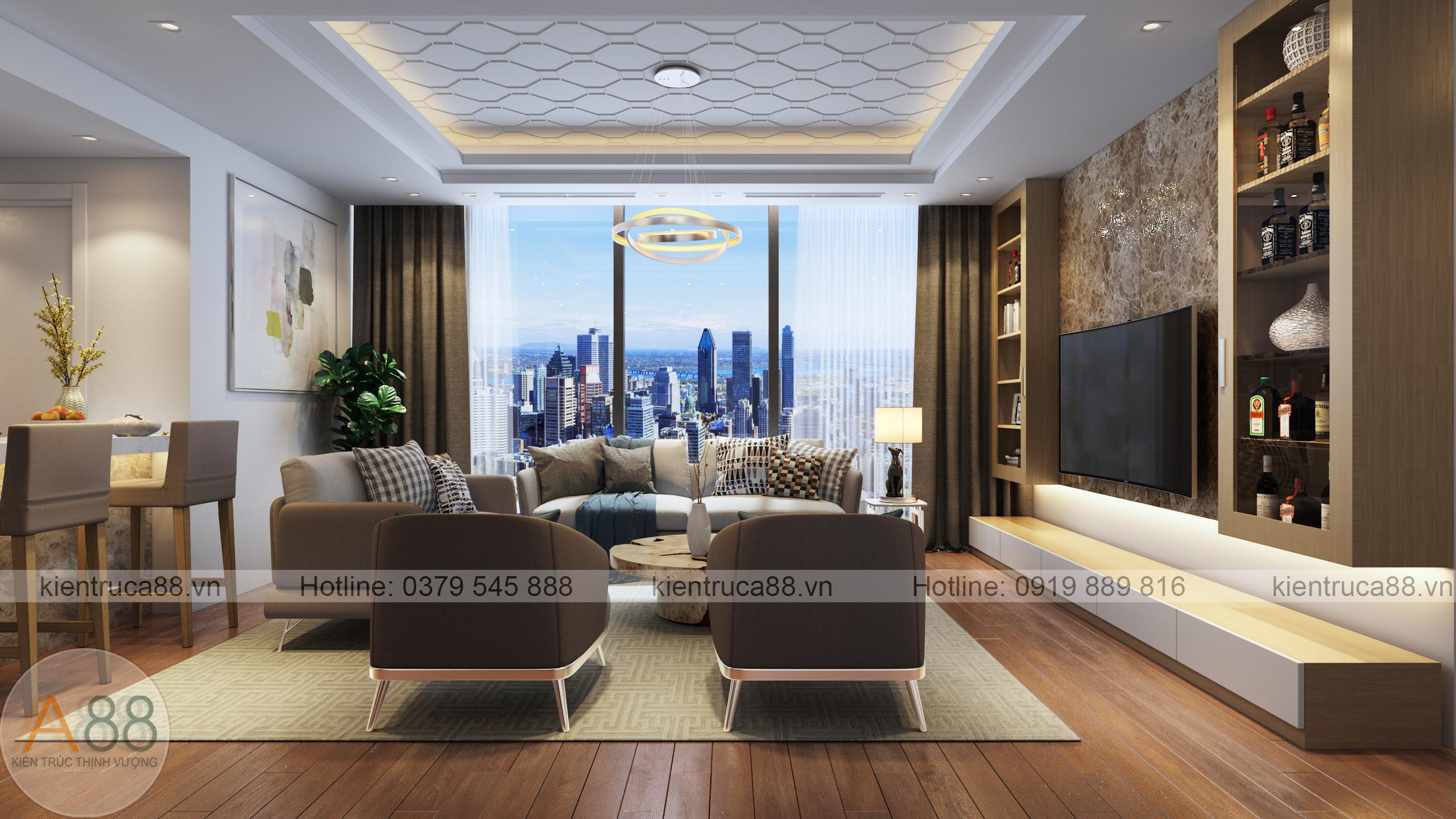 mẫu thiết kế nội thất căn hộ chung cư sunshine city