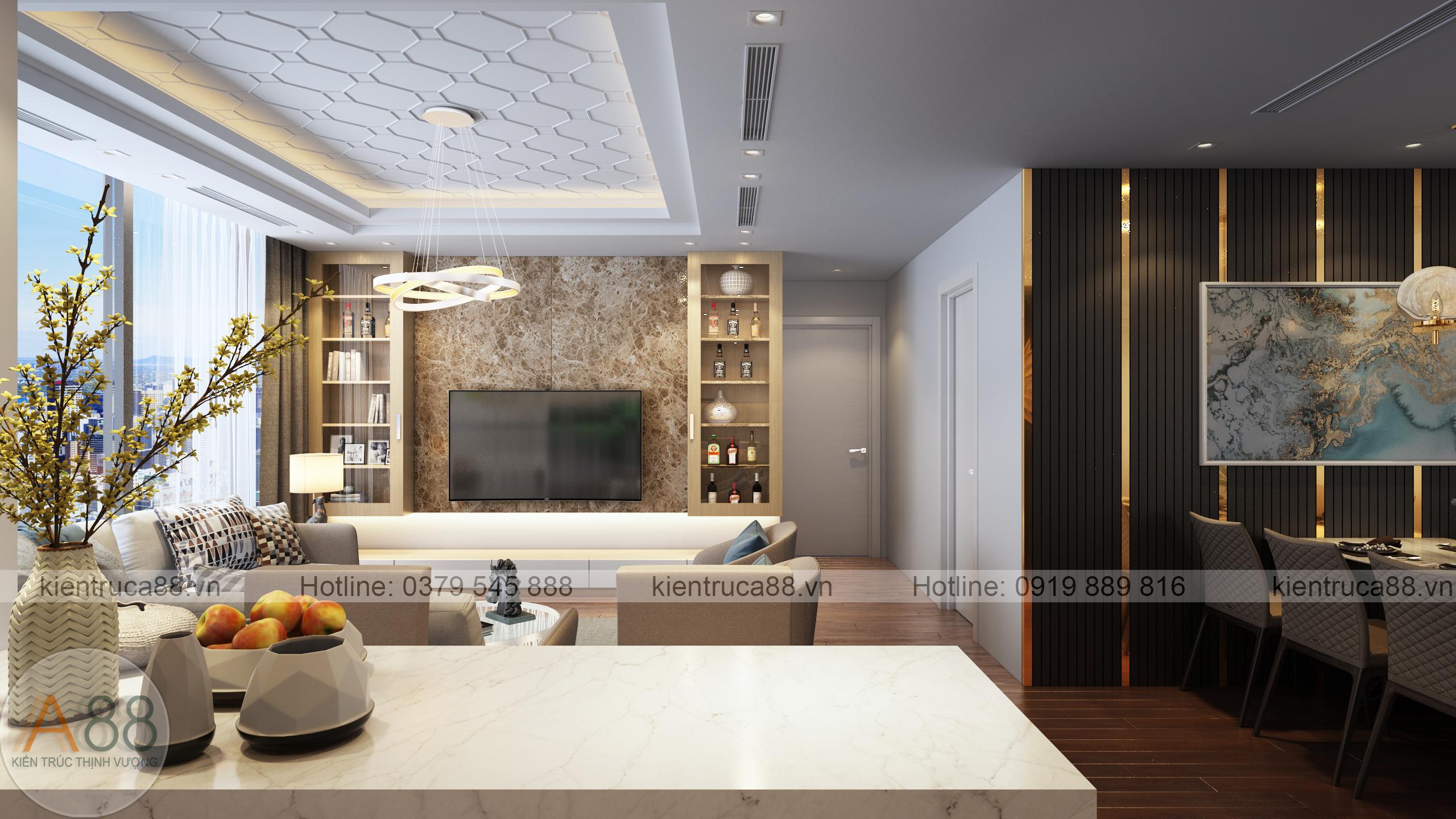 Mẫu thiết kế nội thất chung cư sunshine