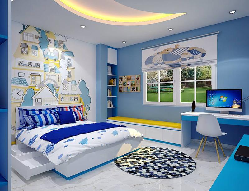 Mẫu thiết kế nội thất phòng ngủ cho trẻ em