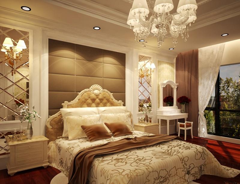 Mẫu thiết kế phòng ngủ biệt thự tân cổ điển