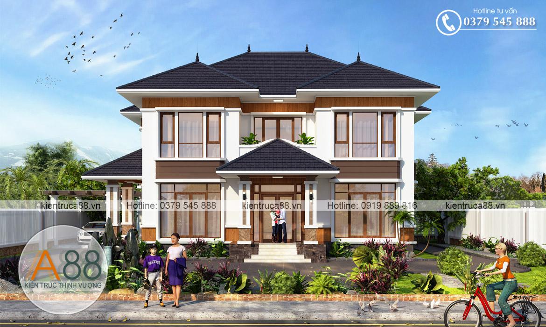 Mẫu thiết kế biệt thự 2 tầng hiện đại tại Lạng Sơn