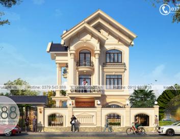 thiết kế biệt thự tân cổ điển tại Vĩnh Phúc
