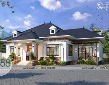Mẫu biệt thự nhà vườn 1 tầng tại Quảng Ninh